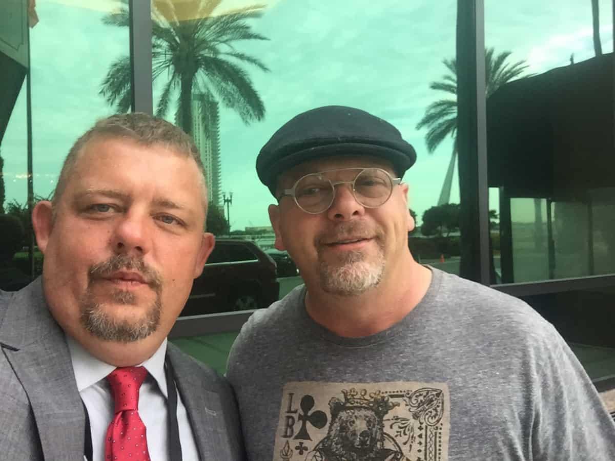 Tim Johnson With Rick Harrison (Pawn Stars Tv Show)