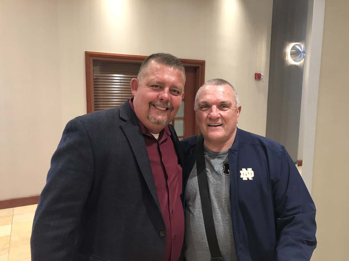 Tim Johnson With Rudy Ruettiger (Nortre Dame Football Player)