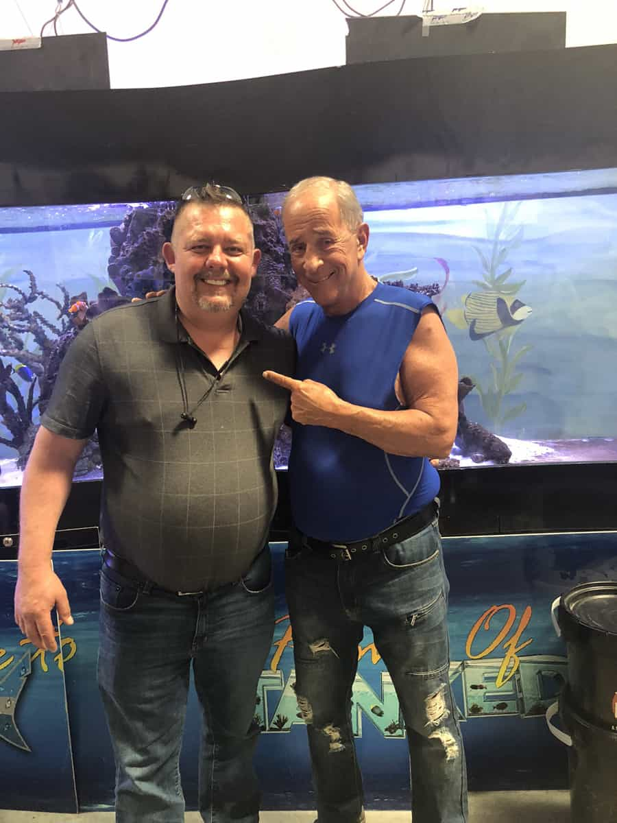 Timothy R Johnson with Irwin Raymer Irwin (The General from the show Tanked)