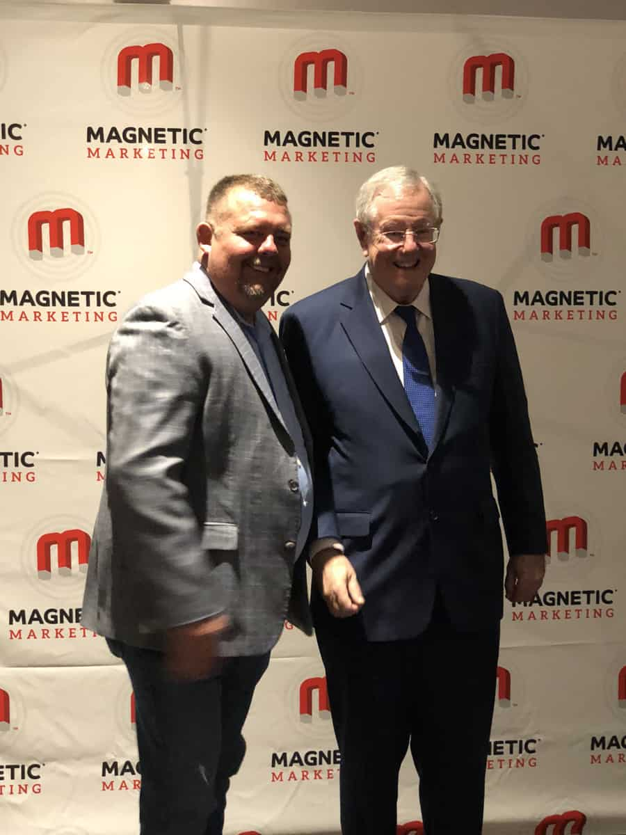 Timothy R Johnson with Steve Forbes Chief Executive of Forbes Media LLC