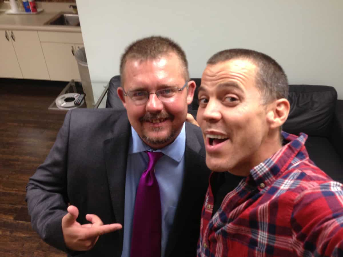 Timothy R Johnson with Steve-O From Jackass
