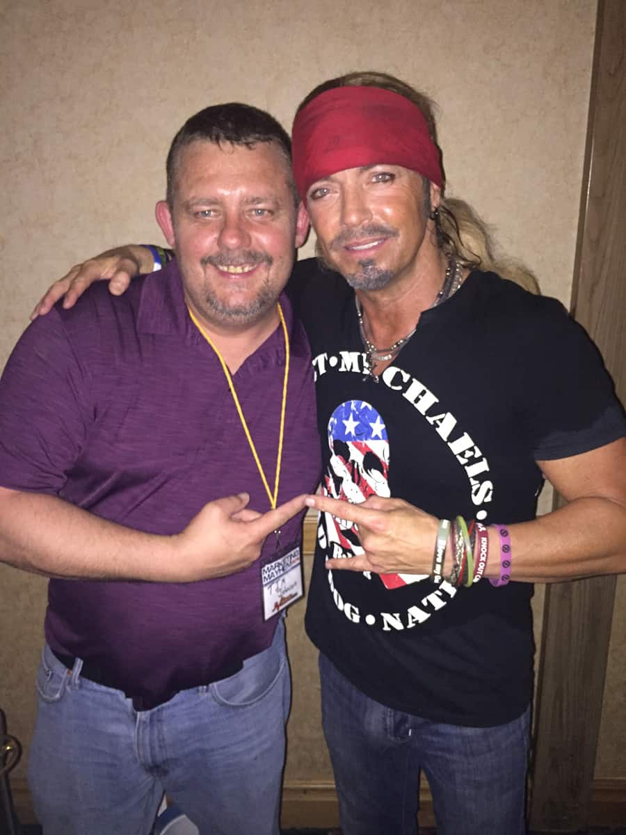 Timothy R. Johnson With Bret Michaels From The Rock Band Poison
