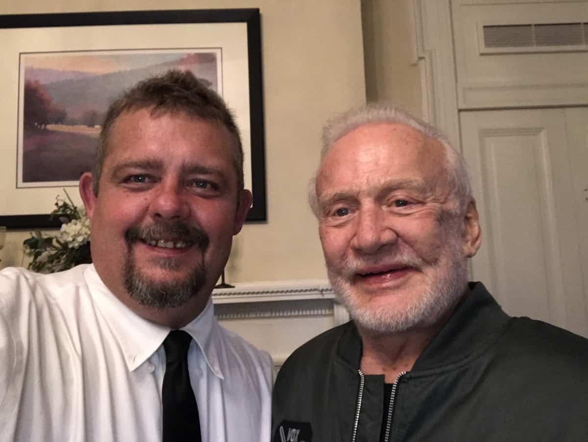 Timothy R. Johnson With Buzz Aldrin (American Astronaut)