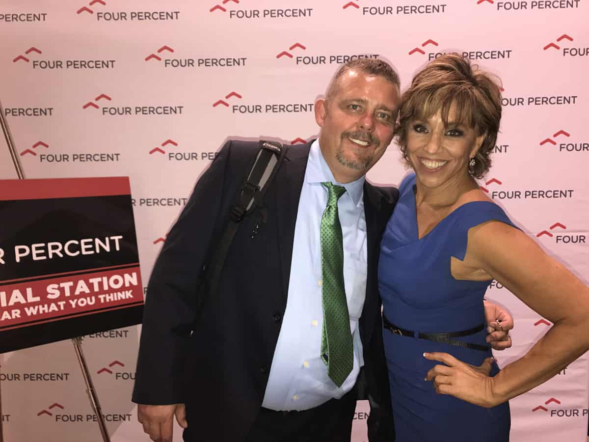 Timothy R. Johnson With Forbes Riley (TV Personality)