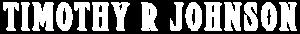 Timothy R Johnson Name Logo